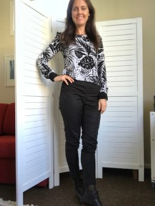 Nina Fountain in Casual Workwear