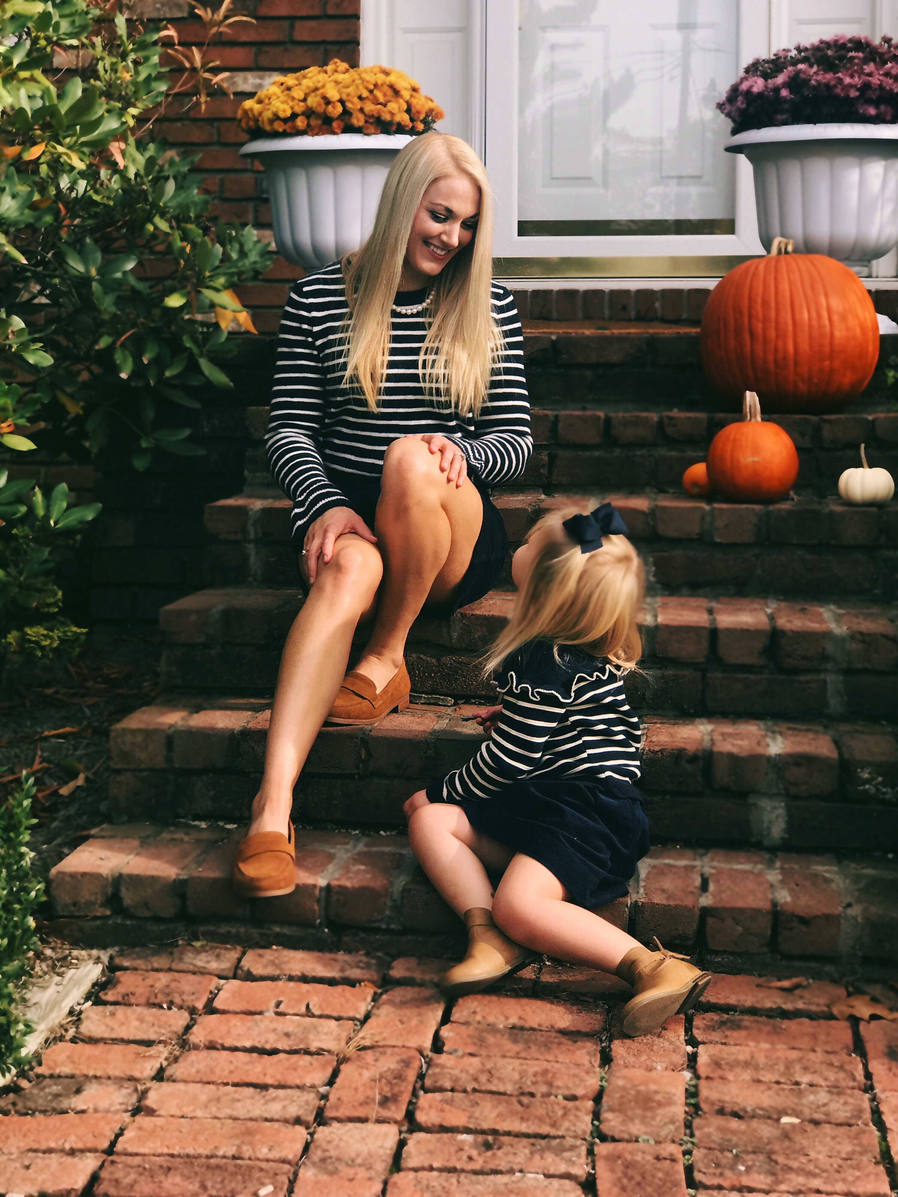 Mommy and Me Outfits: Skirts & Stripes | www.styleherstrong.com