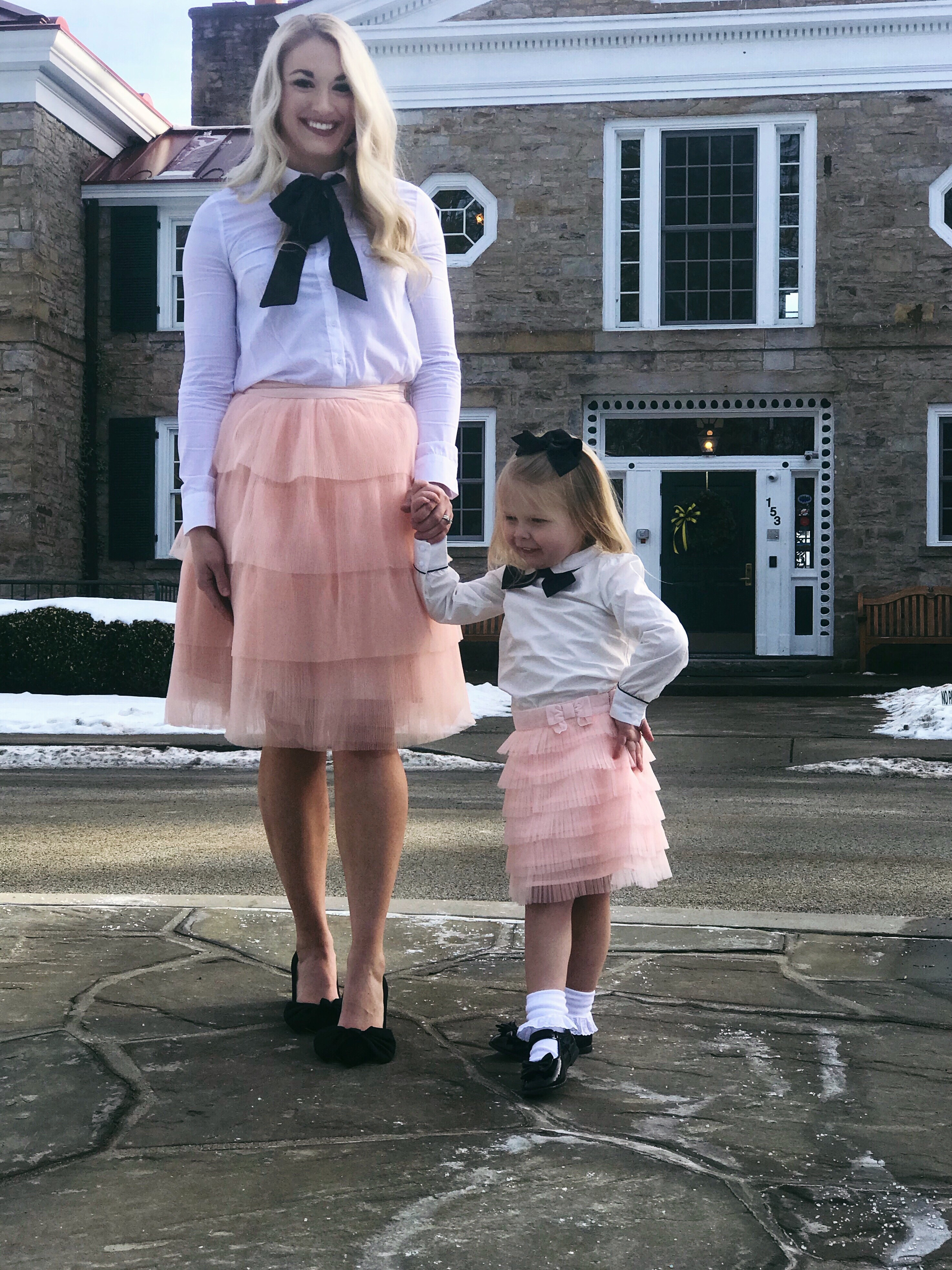 Mommy and Me Outfits | Bow Tops and Tulle Skirts | www.styleherstrong.com | #mommyandme