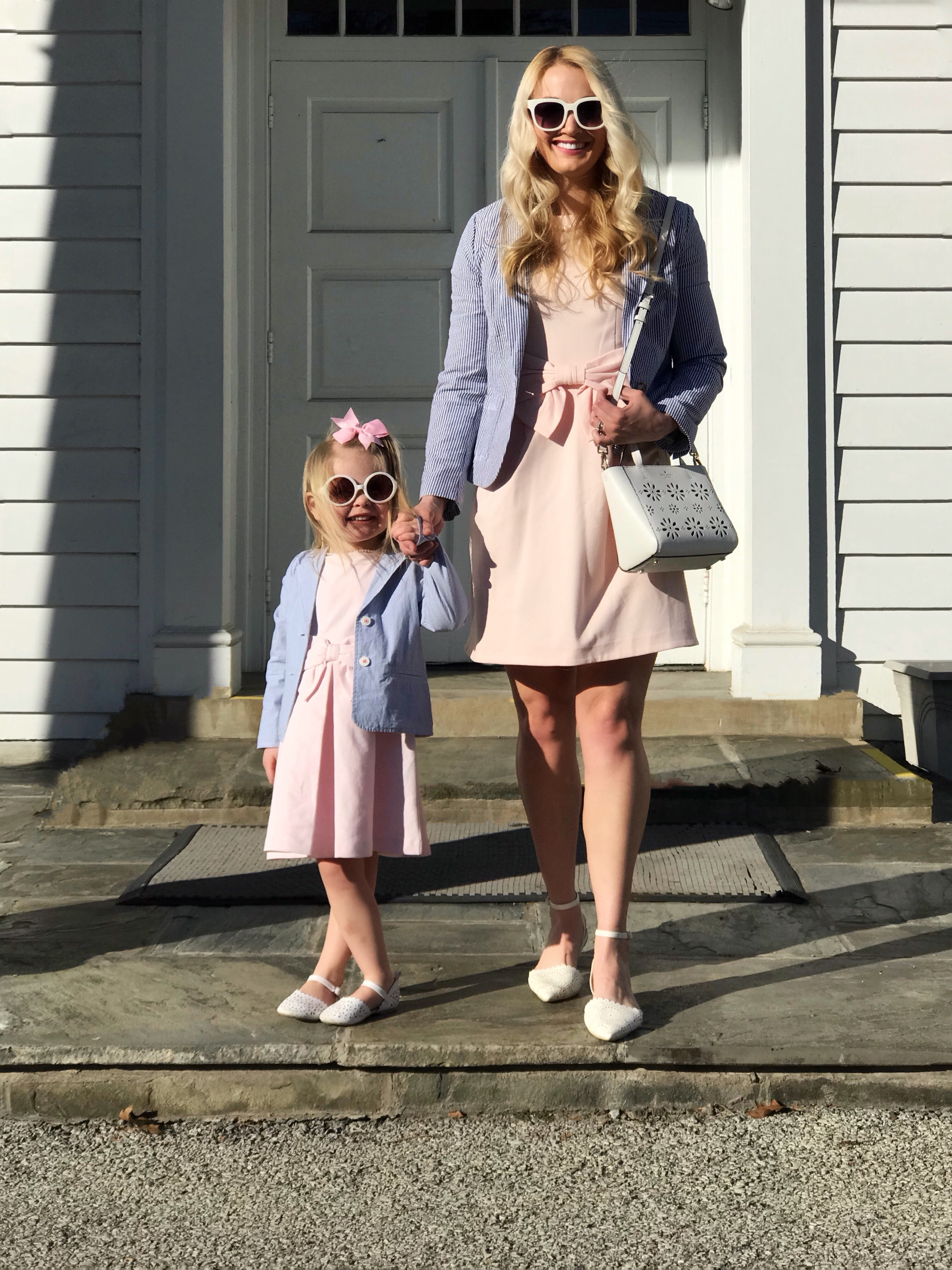 mommy and me outfits bow dresses  seersucker blazers