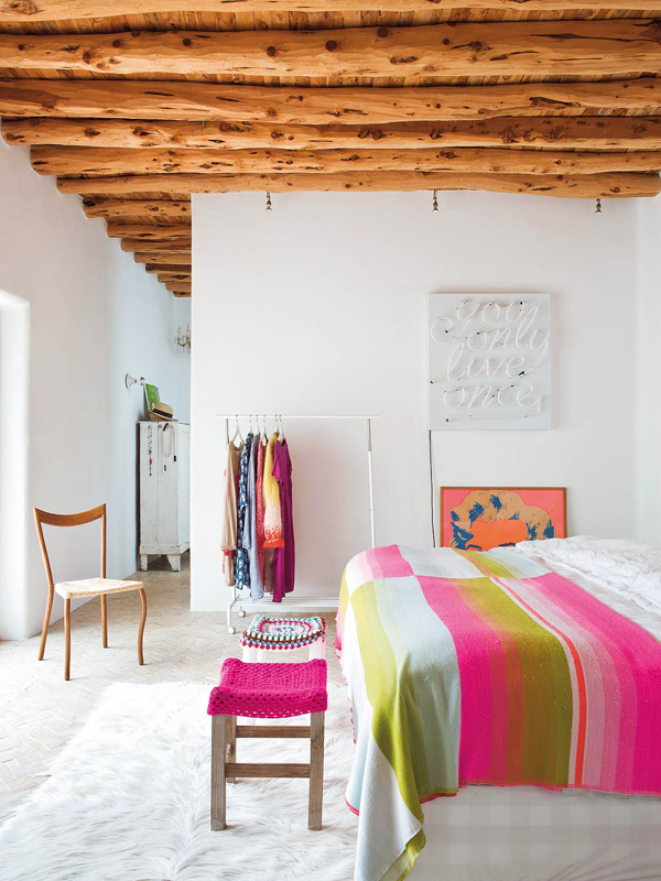 FAMILY HOME IN IBIZA WITH POPS OF COLOUR STYLEJUICER