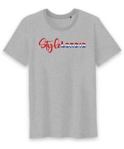 Stylelandia Heren T-shirt Met Ronde Hals 100% Biologisch Katoen