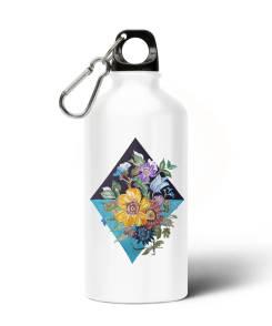Ruit En Bloemen Aliminium Water Fles (714)