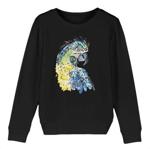 Papegaai Kinder Sweatshirt - 100 % Biologisch