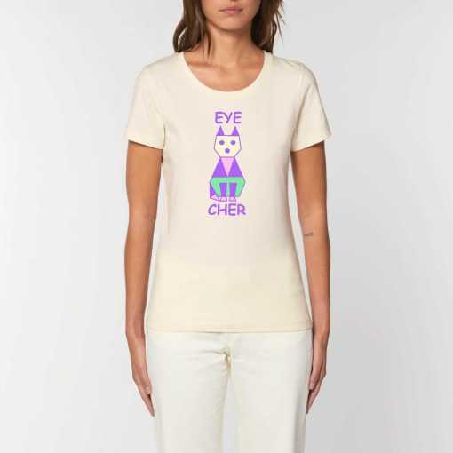 EyeCATcher Dames T-shirt - 100% Biologisch Katoen