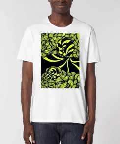 Yellow Worlds Ruwe Rand Unisex T-Shirt - 100% Biologisch Katoen