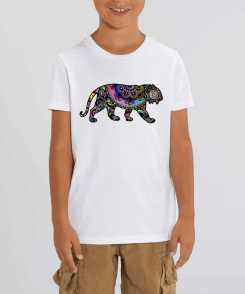 Psychedelic Tiger Kinder T-shirt - 100 % Biologisch Katoen