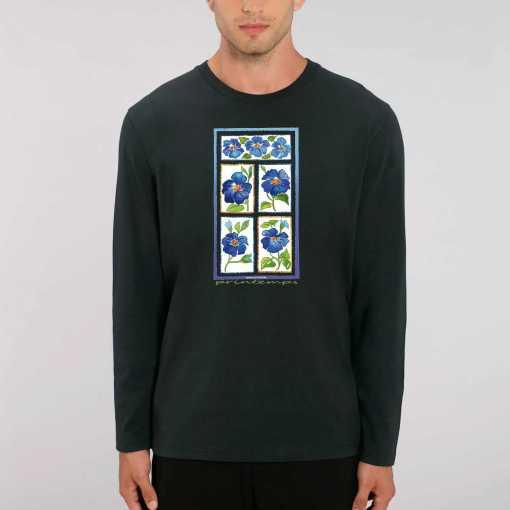 Printemps Dames 100% biologisch T-Shirt Met Lange Mouwen