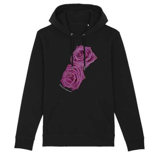 Lovers Roses Unisex Organic Hoodie