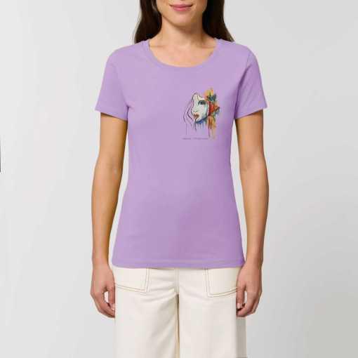 Mysterieuze Vrouw Dames T-shirt - 100% Biologisch Katoen