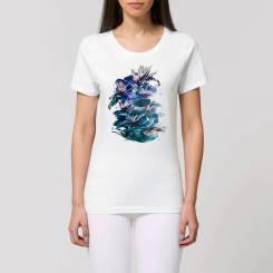 Tropiche Bloemen Dames T-Shirt
