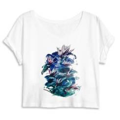 Tropiche Bloemen Dames Crop Top