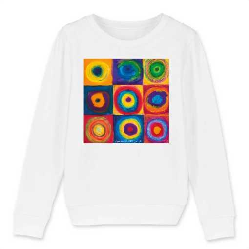 Gekaderde Vrijheid Kinder Sweatshirt - 100 % Biologisch
