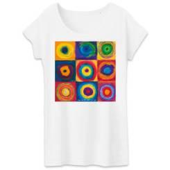 Gekaderde Vrijheid Dames T-shirt - 100% biologisch katoen