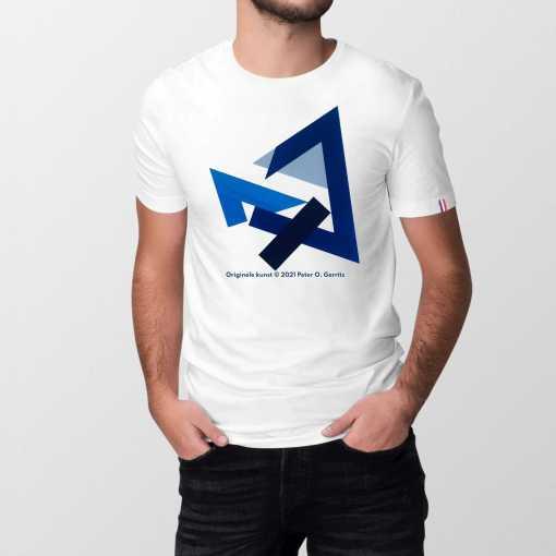 Hoeken In Blauw Heren T-shirt - 100% biologisch katoen