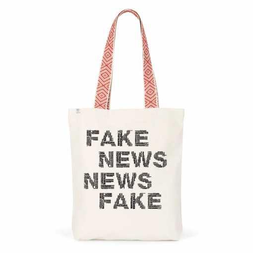 Fake News Etnische Totebag - Biologisch Katoen