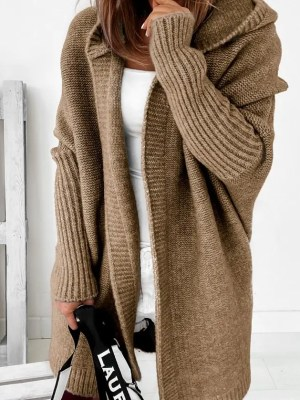 Oversize Damen Strickmantel Strickjacke
