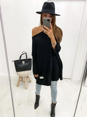 Oversize Strickpullover Off Shoulder