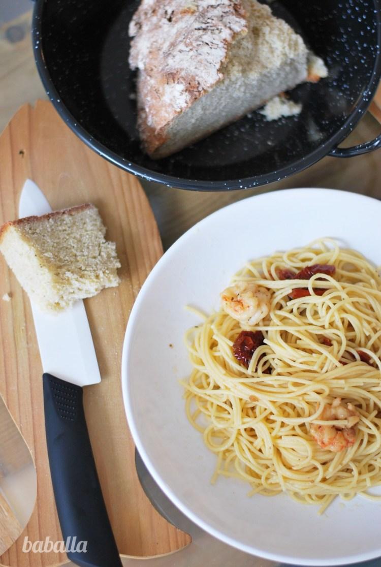 pasta con tomates secos y gambas3