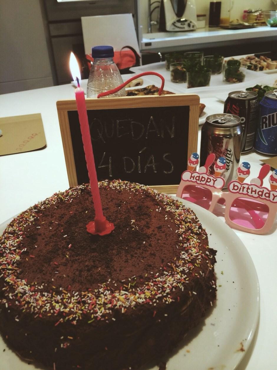 tarta cumpleaños mousse chocolate