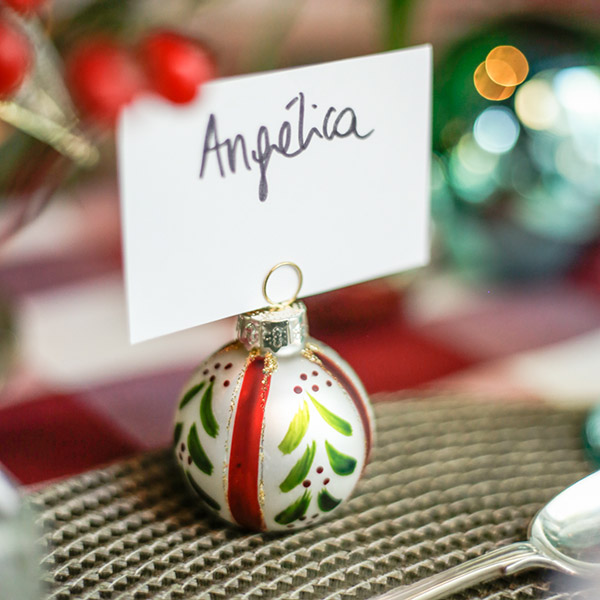 Christmas tabletop markers