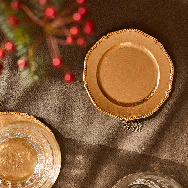 Bread plates for christmas table