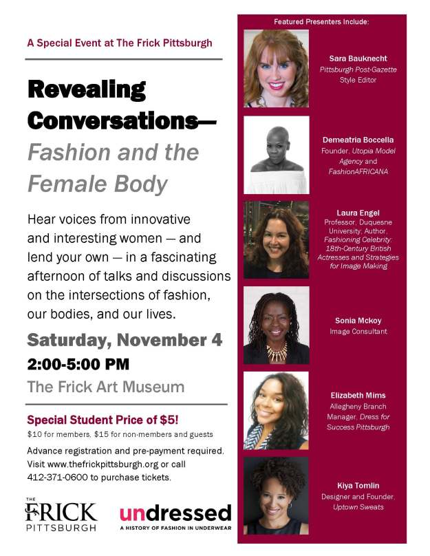 Revealing Conversations at the Frick Pittsburgh, November 4, 2017