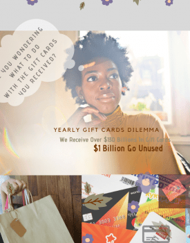5 Suggestions for unused gift cards