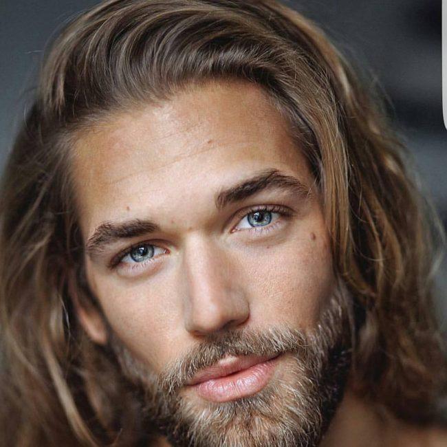 Long Skinny Face Hair Men Geometrie Del Volto E Tagli