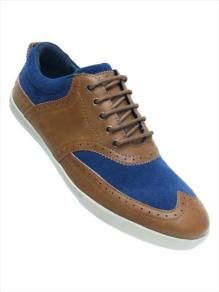 Tan Navy Brouge Lace Up