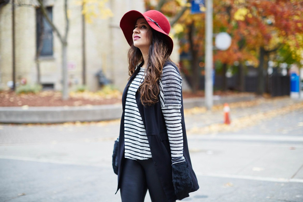 classic-combination-black-red-hat-toryburch-mendocino-clubmonaco-hnm-vest-zara-5