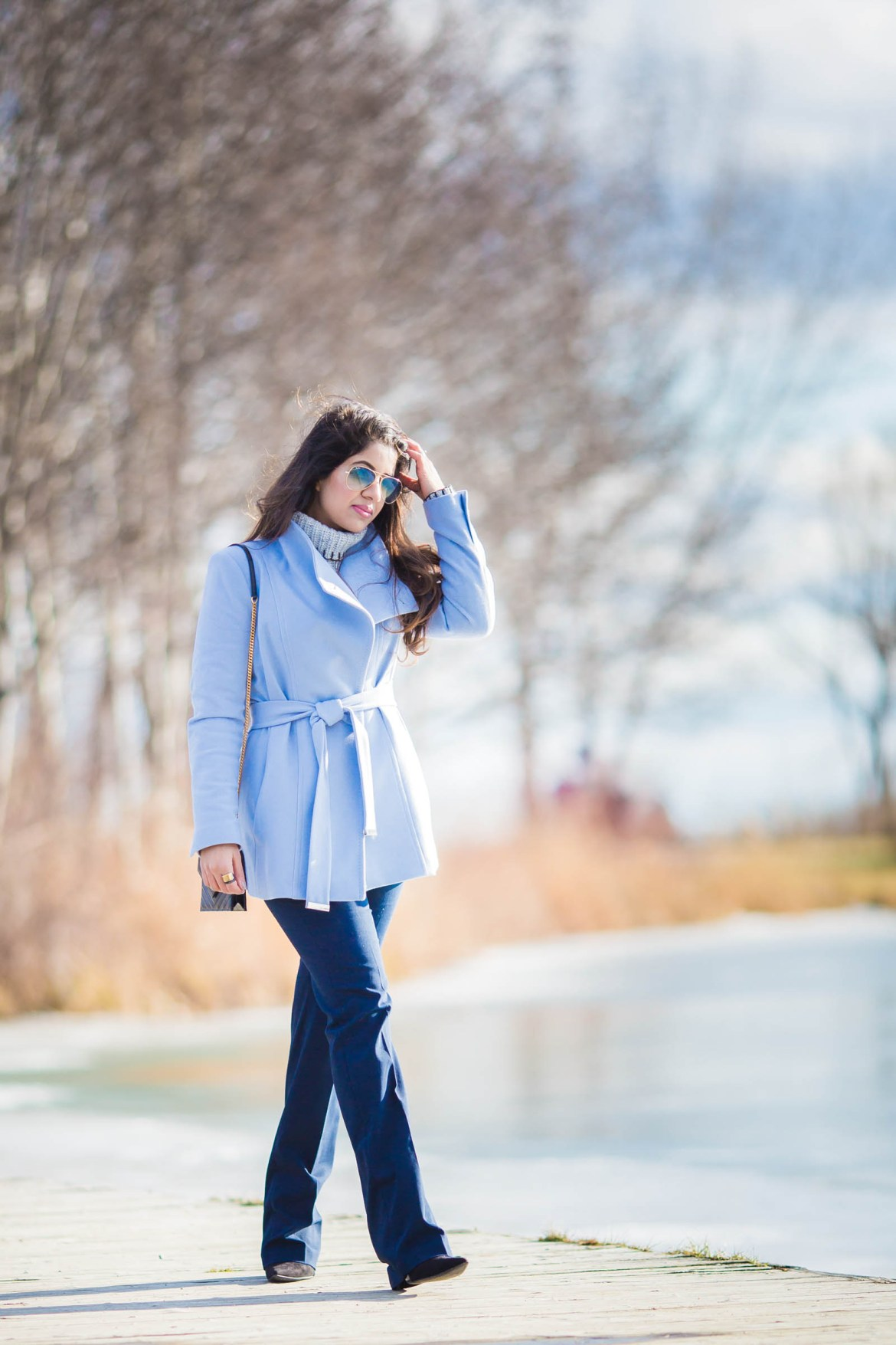 sky-blue-pea-coat-ted-baker-ysl-zara-wide-leg-pants-ray-ben-cold-spring-fashion-blogger-stylist-5