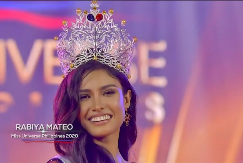 RABIYA MATEO WAS CROWNED AS THE MISS UNIVERSE PHILIPPINES 2020