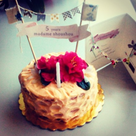 Madame Shou Shou birthday cake