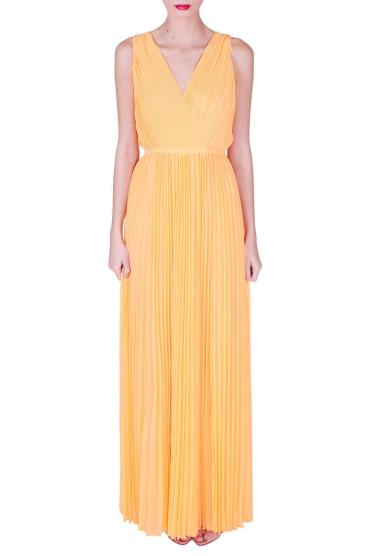 Halston Heritage Long Pleated Maxi