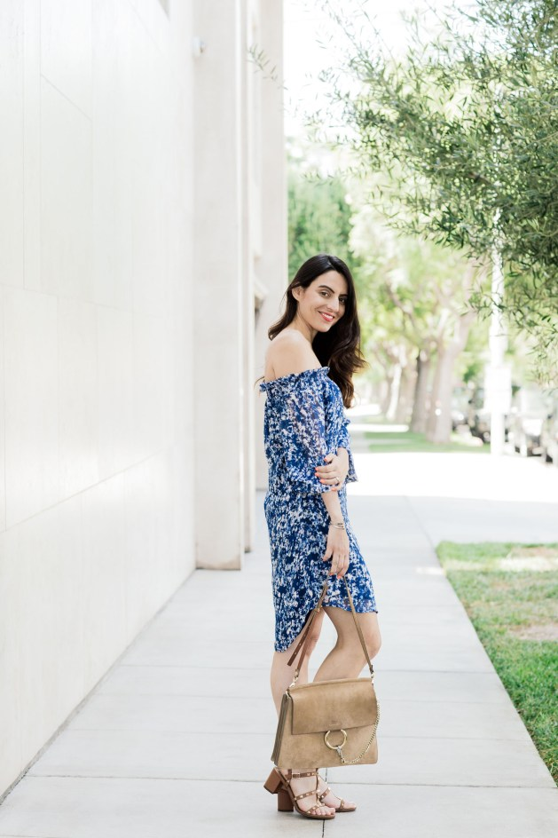 blogger Styles Notes By Belen wears Wayf dress with chloe bag and valentino shoes-1-5