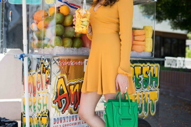 blogger style notes by belen wears reformation dress 2