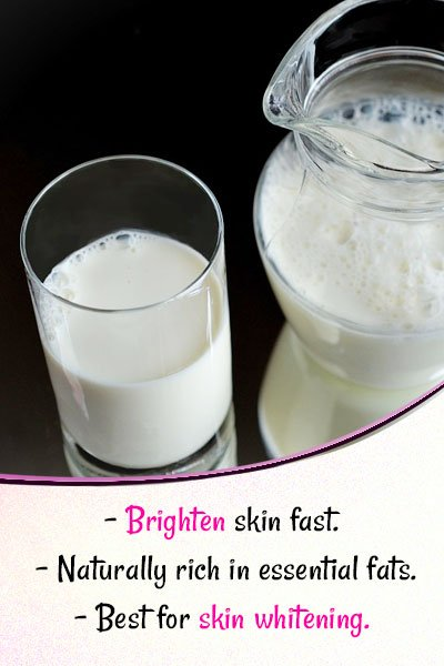 Milk for Skin Whitening
