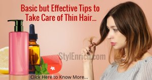 How to Take Care of Thin Hair?