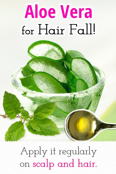 Aloe vera for Hair Fall