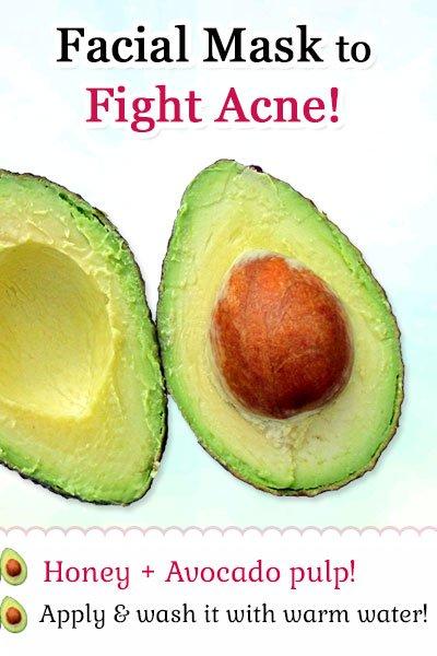 Avocado Facial Mask to Fight Acne and Pimples