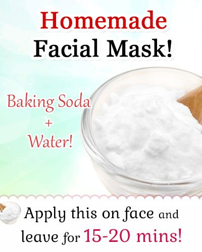 Homemade Facial Mask using Baking Soda for Pimples
