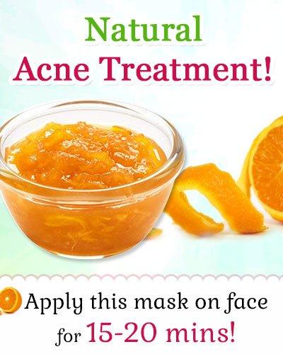 Orange Peel Face Mask as a Natural Acne Treatment