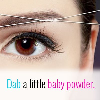 Baby powder for your eyebrows