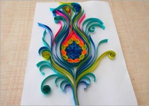 Peacock-feather-quilling-wall-decor-ideas