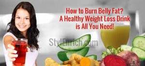 How to Burn Belly Fat With Healthy Weight Loss Drink