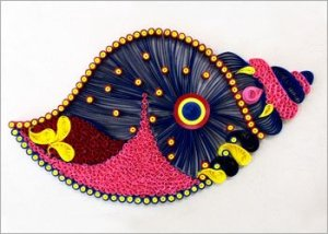 Quilled-shell-home-decor-project