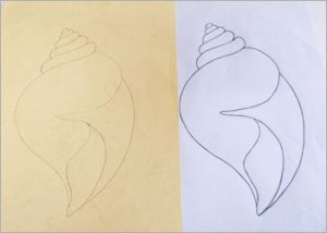 Quilled-shell-stencil