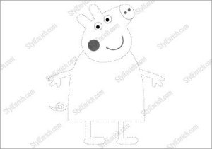 Peppa Pig Like Crafts Free Stencil Template for Download
