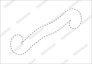 Twisted Paper Box Stencil Template for Free Download!